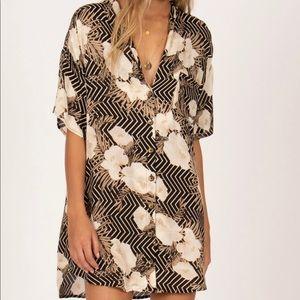 Amuse Society Island Oasis Shirt Dress